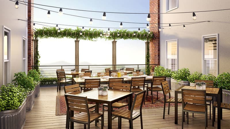 St. Marie Terrace at The Western Front Hotel, Virginia