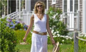 Guest Walking on White Elephant Hotel's Lawn