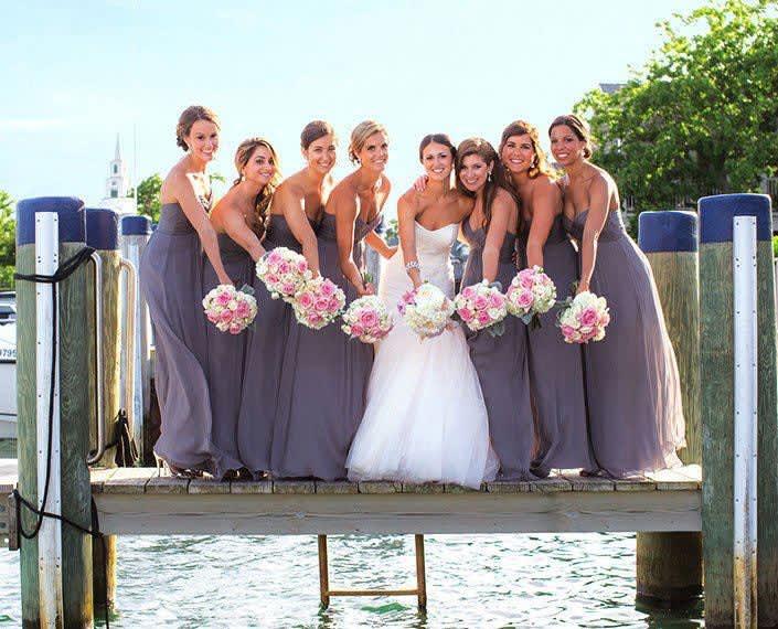 Wedding ceremony at White Elephant Hotel Nantucket, Massachusetts