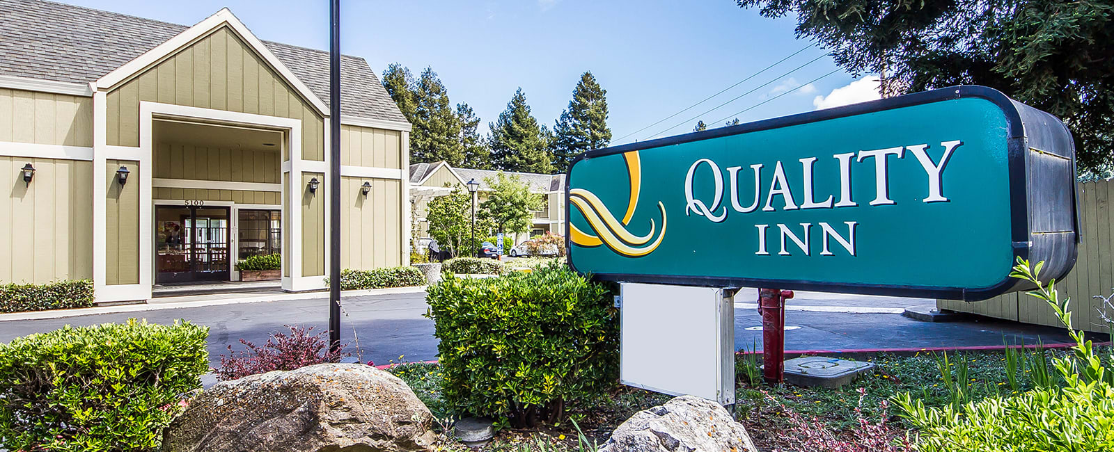 Location of Quality Inn Petaluma - Sonoma