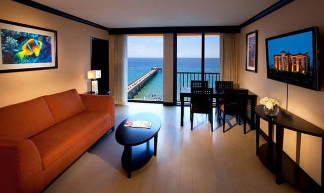 Reserving an Ocean View Corner Room in Deerfield Beach