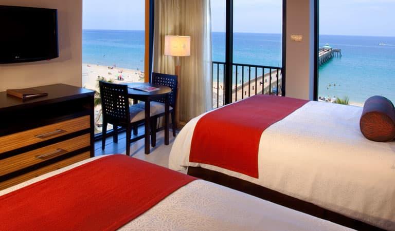 Corner Rooms at Wyndham Deerfield Beach Resort, Florida