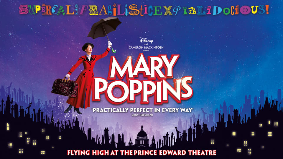 Mary Poppins poster artwork