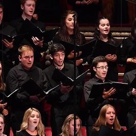 Male singers performing in a choir