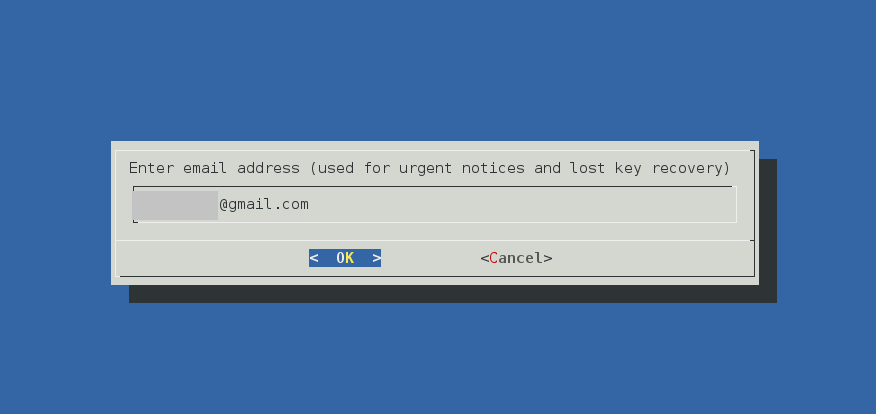 email request screen
