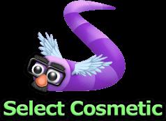 スキン選択画面右下の「Select Cosmetic」ボタン