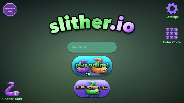 アプリ版スリザリオのトップ画面