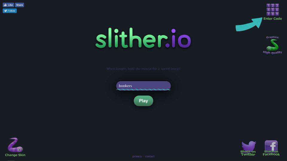 ブラウザ版で「Enter Code」ボタンの表示
