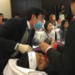 Speaking and training at a recent Seminar at the prestigious American Academy of Aesthetic Medicine c