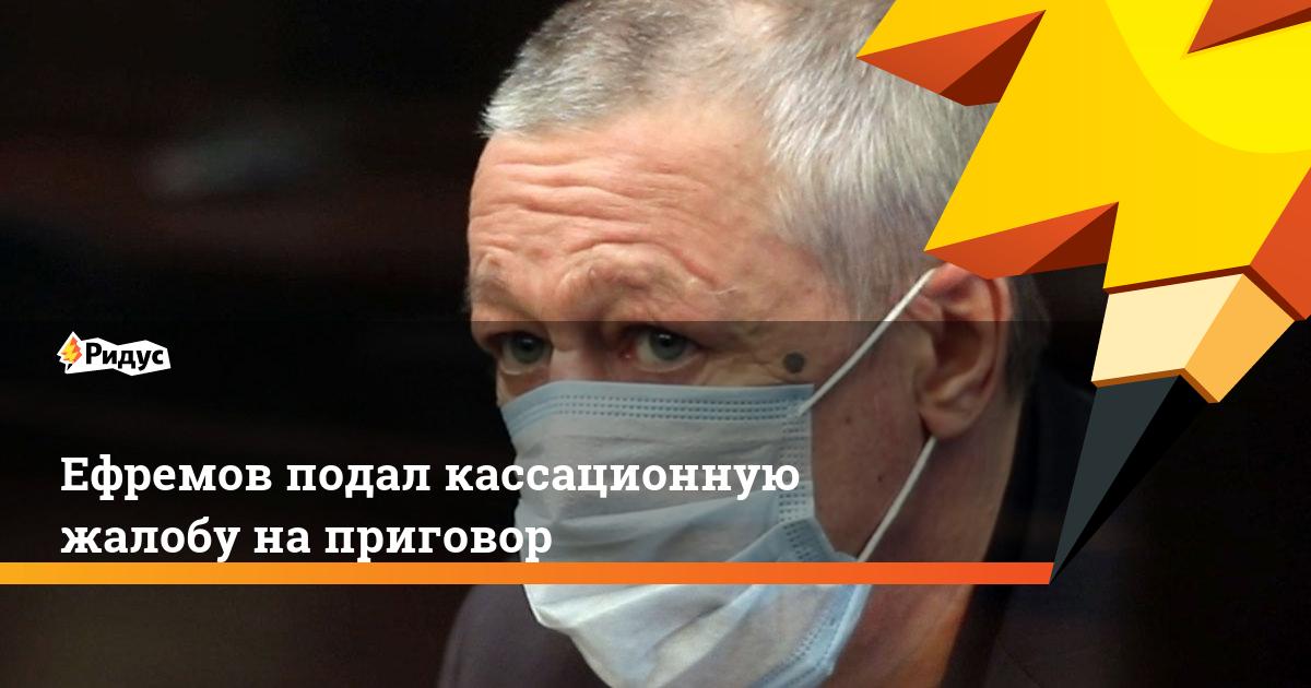 Ефремов подал кассационную жалобу на приговор
