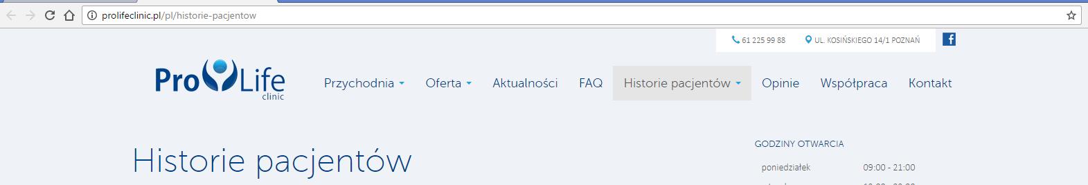 Świadectwa par na temat Naprotechnologii ze strony prolifeclinic.pl