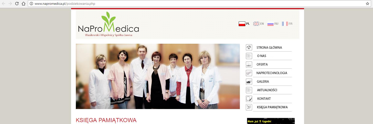 Świadectwa par na temat Naprotechnologii ze strony napromedica.pl