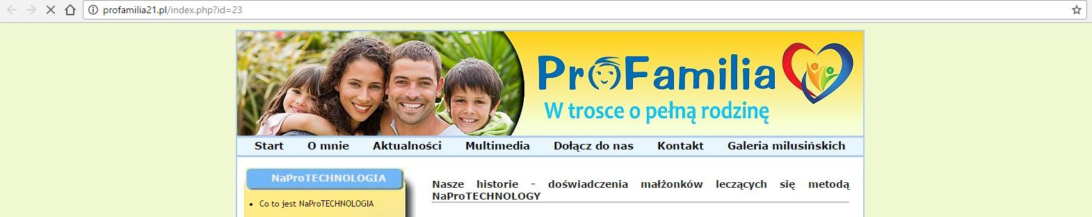 Świadectwa par na temat Naprotechnologii ze strony profamilia21.pl
