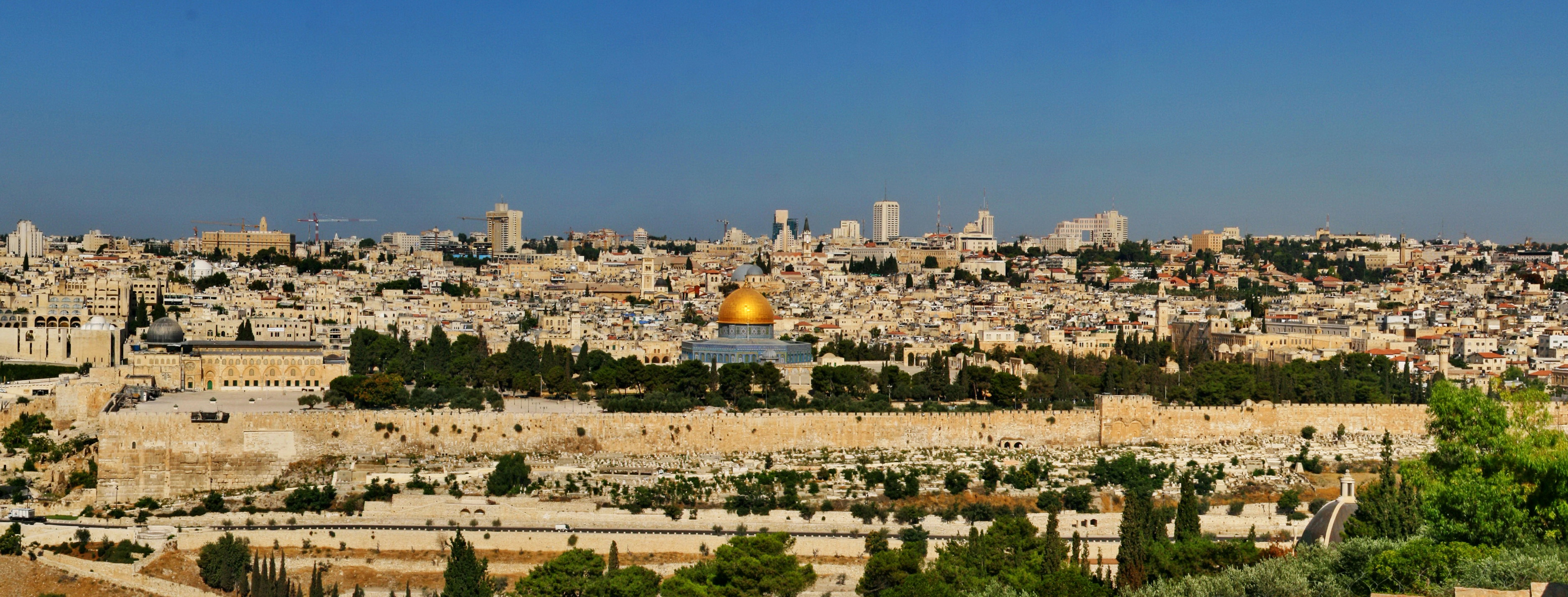 Ziemia Święta - widok na panoramę Jerozolimy