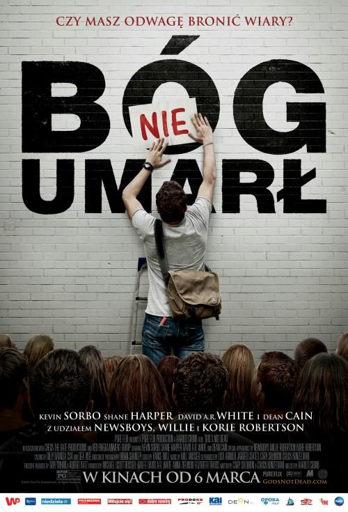plakat z filmu Bóg nie umarł