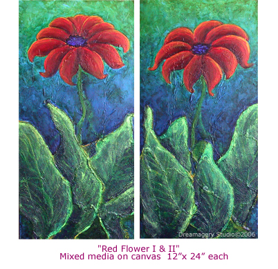 """Red Flower I & II"""