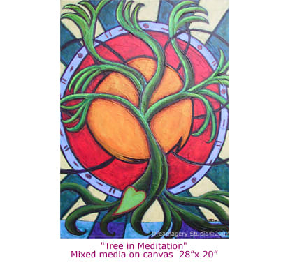 """Acrylic & Mixed Media on canvas. 28"""" x 20"""""""