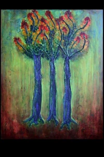 """Acrylic & Mixed Media on canvas. 30"""" x 24"""""""