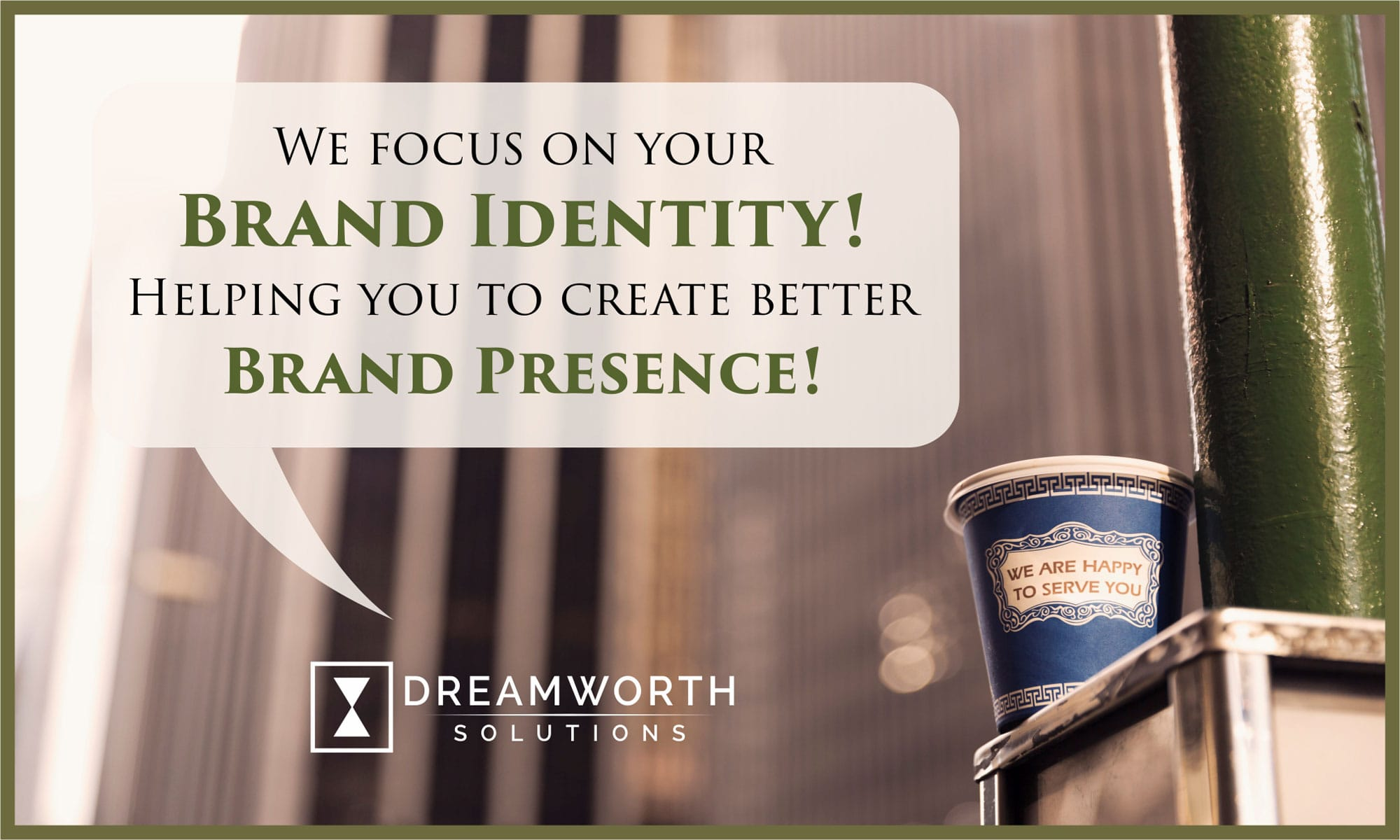 Dreamworth Solutions is a digital marketing company that uses brand identity