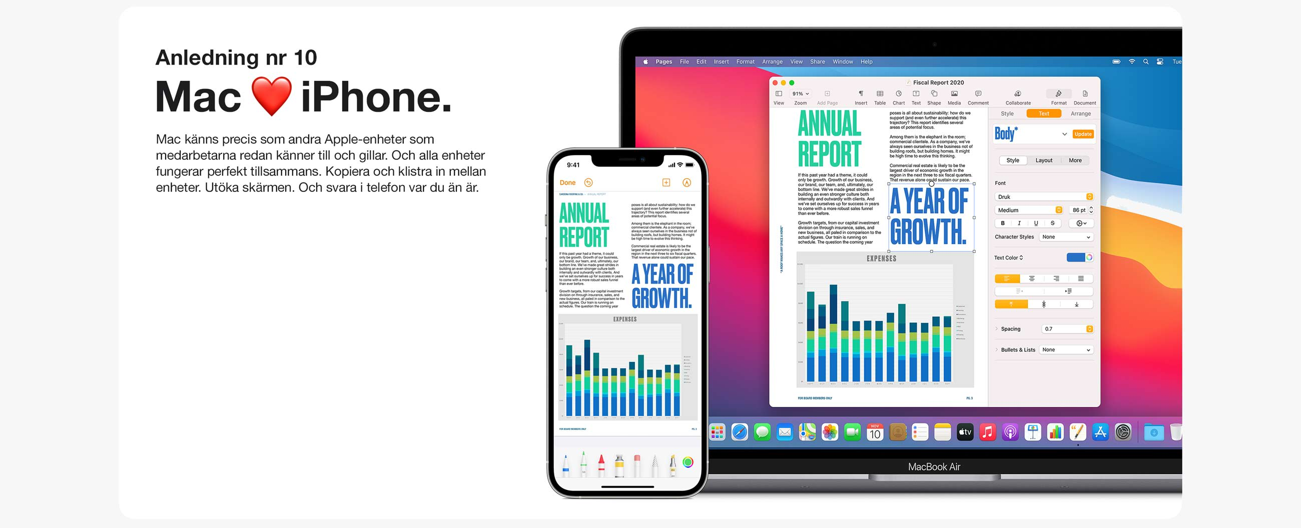 Anledning 10. Mac känns precis som andra Apple-enheter som medarbetarna redan känner till och funkar perfekt tillsammans.