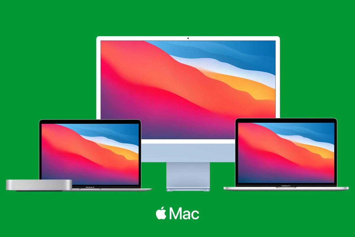 Mac mini, MacBook Pro, iMac och MacBook Air
