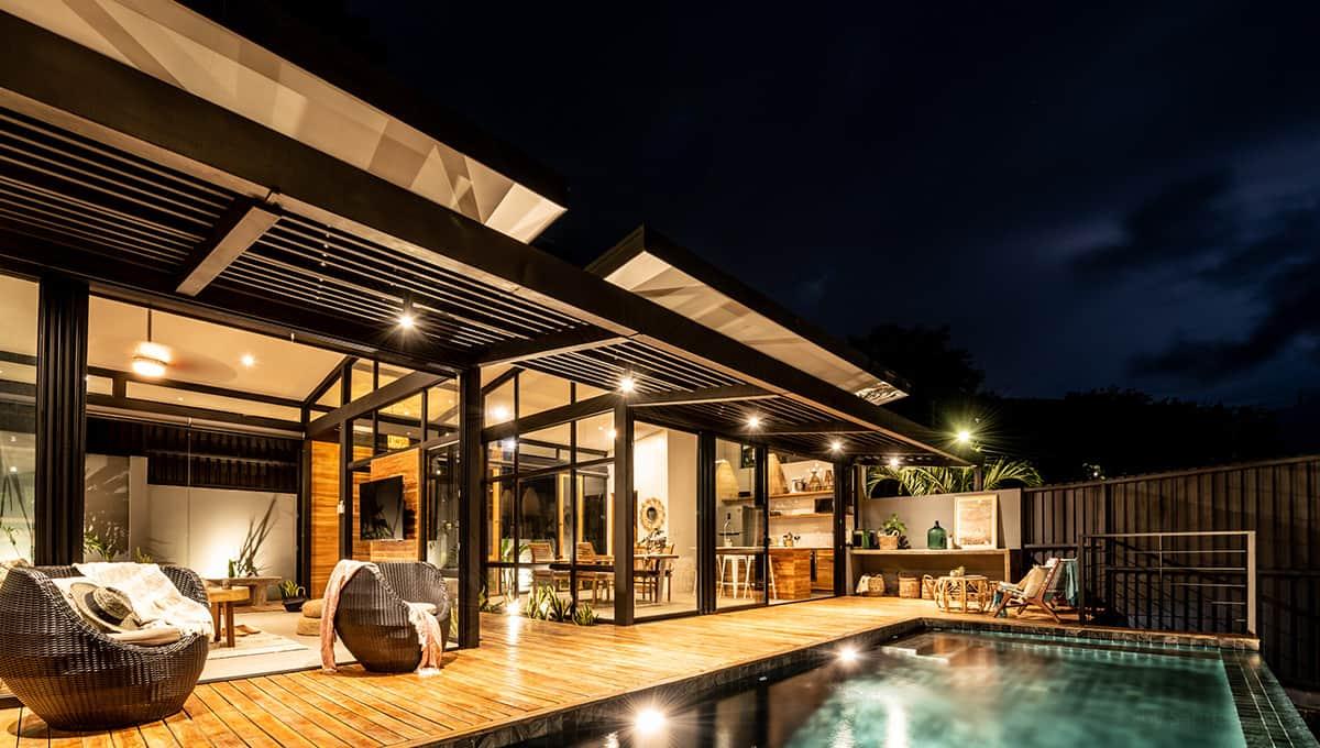 casa negra pool night sky tamarindo