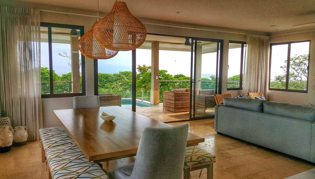 enclave dining room table view tamarindo