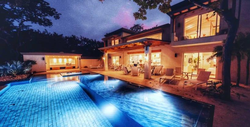 Casa Perla at Night Tamarindo