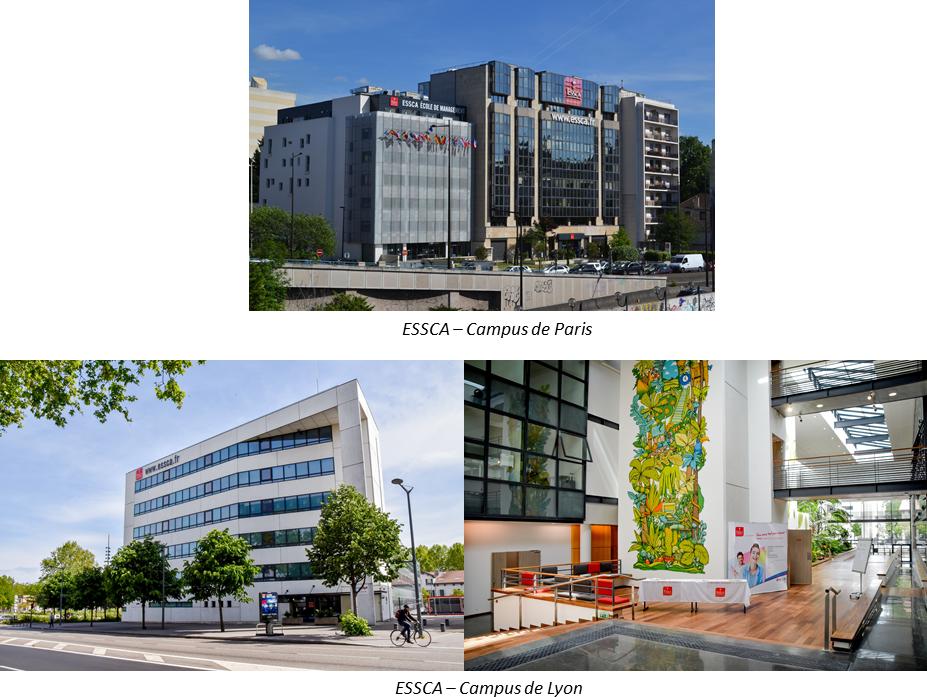 ESSCA - Campus de Lyon et Paris