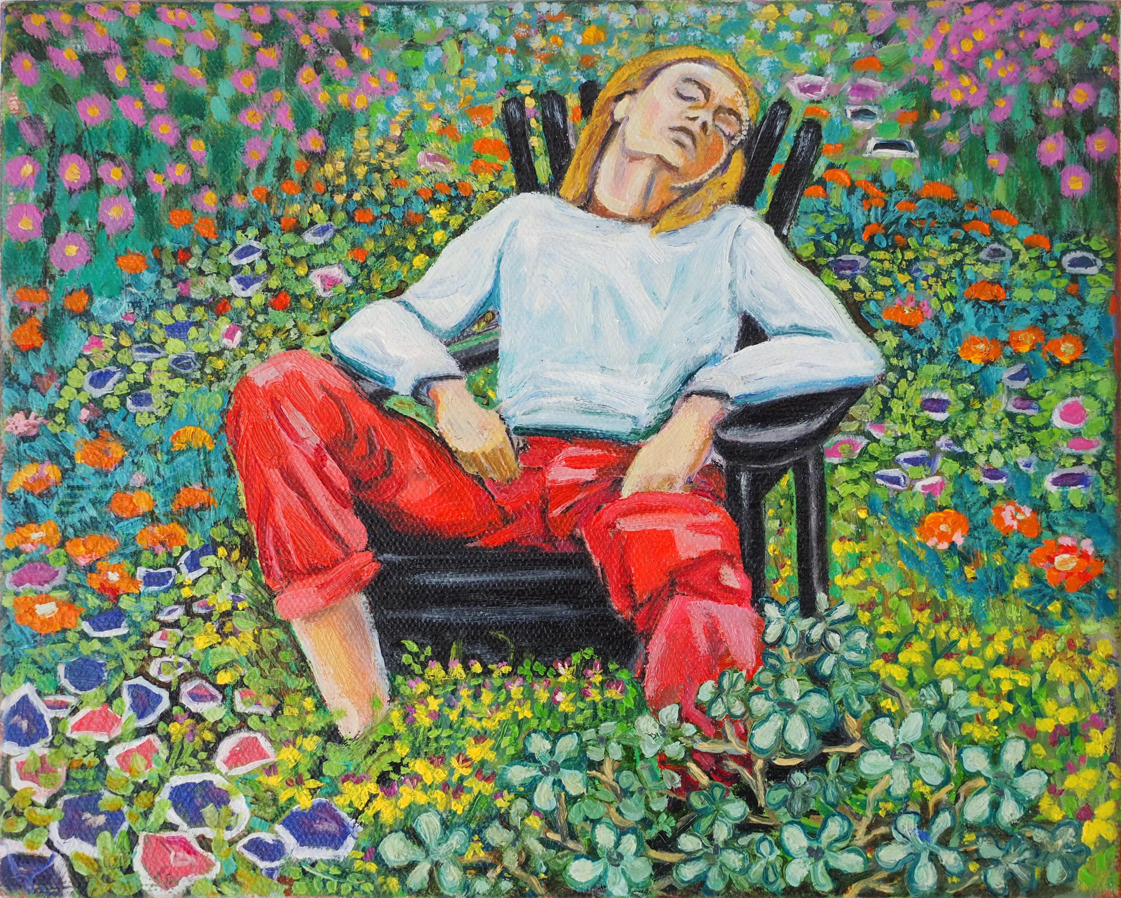 Sleeping Beauty 20x25cm oil on canvas NFS SOLD