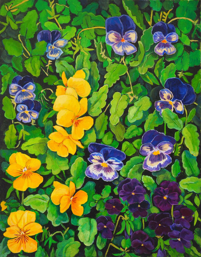29 Viola Cascade 45x35cm oil on canvas $500 SOLD