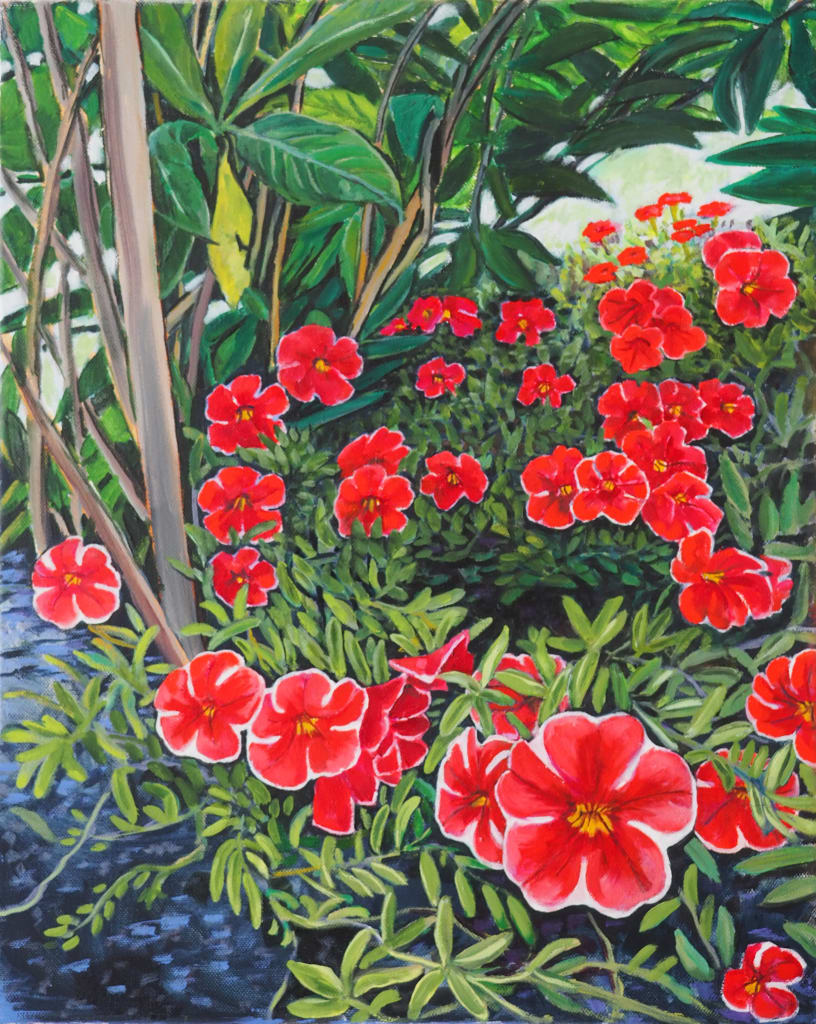 Chelsea Garden 50x30cm oil on canvas $600 SOLD