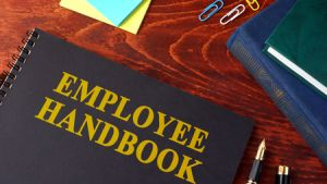 74558266 - employee handbook or manual in a office.