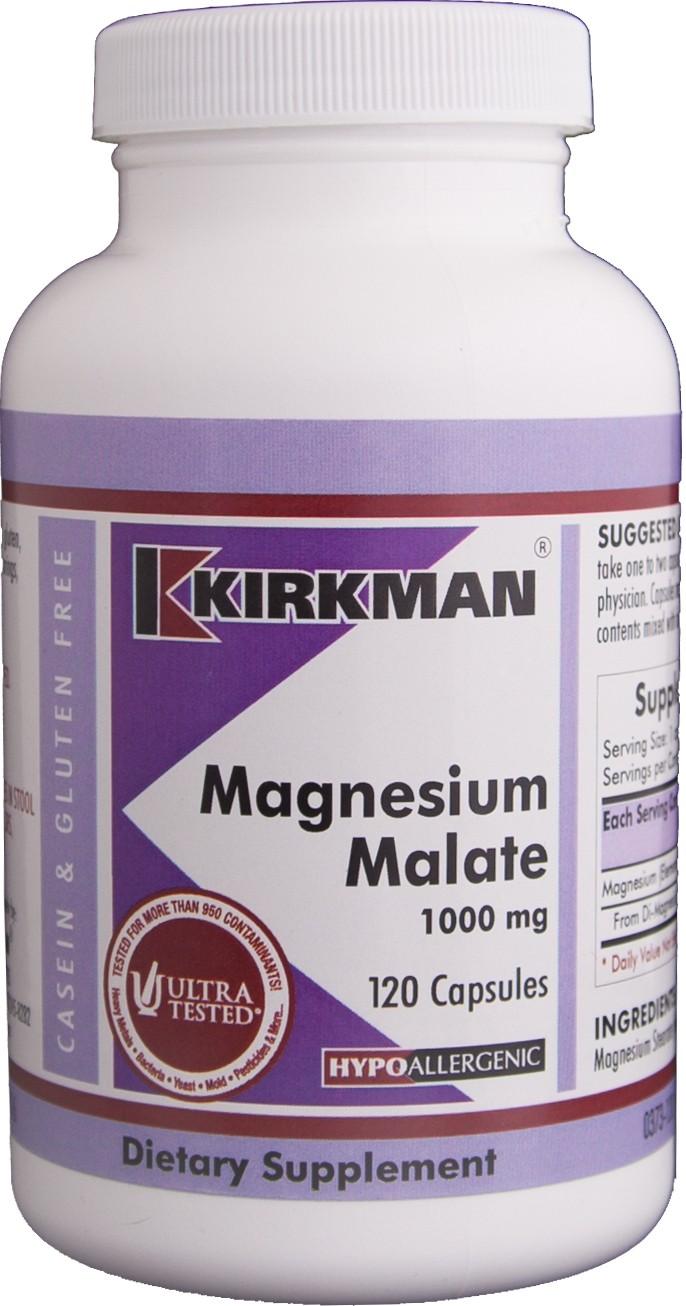 Magnesium Malate 1000 mg (Hypoallergenic) - 120 kaps Image