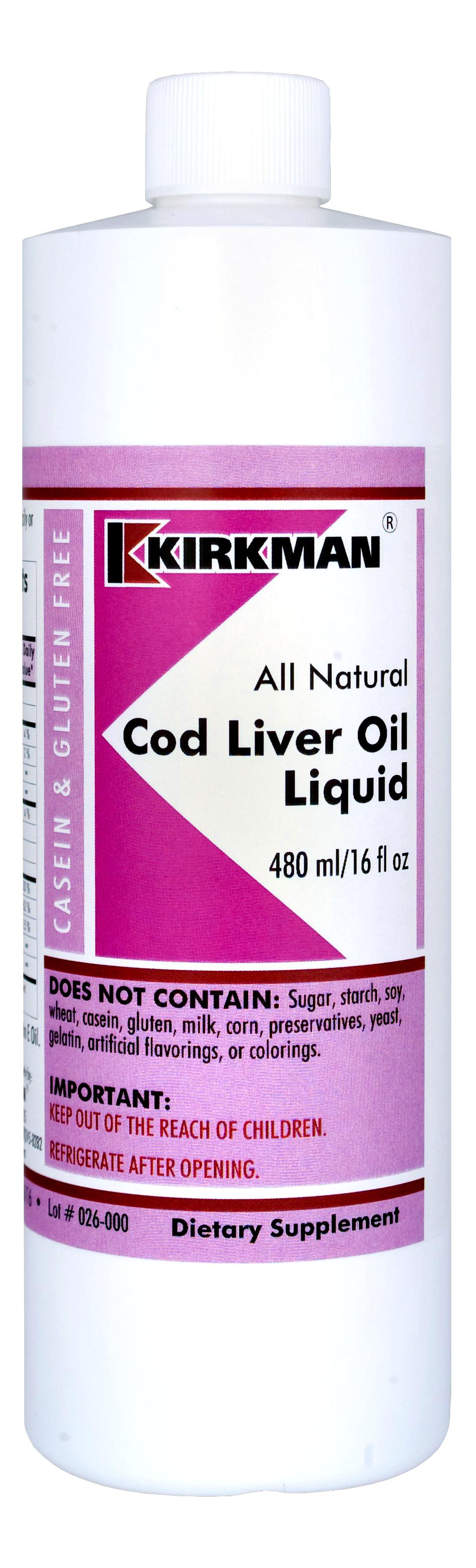 Cod Liver Oil Liquid (tran) - 473ml Image