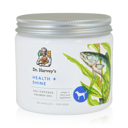 Health and shine for dogs dr harvey 39 s for Fish oil pills for dogs