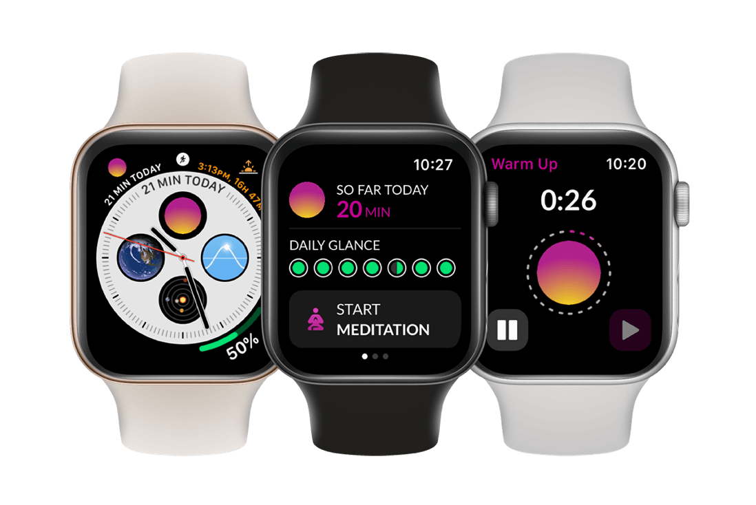Timefully meditation timer for Apple Watch with heart rate measurement and tracking