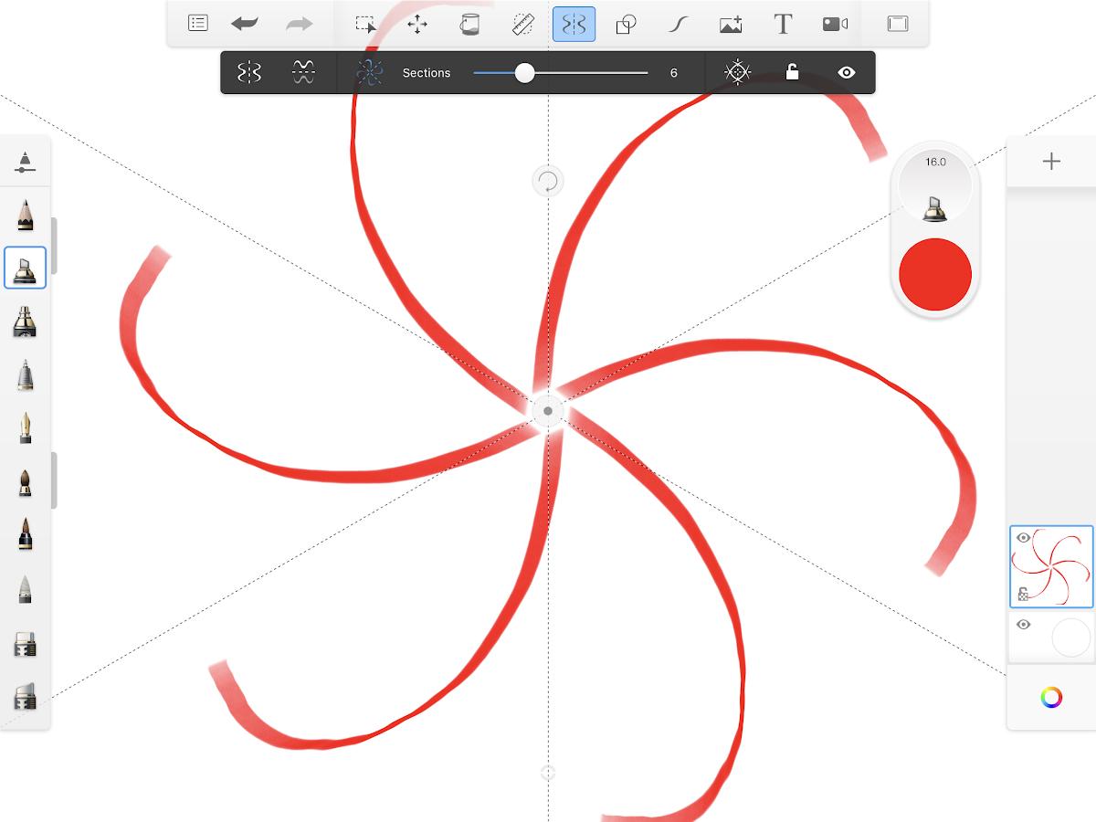 SketchBook鏡像尺規
