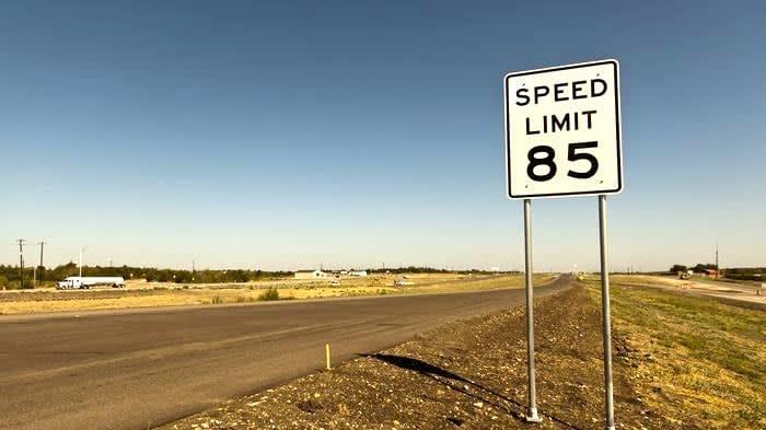 Texas Highway Road Sign