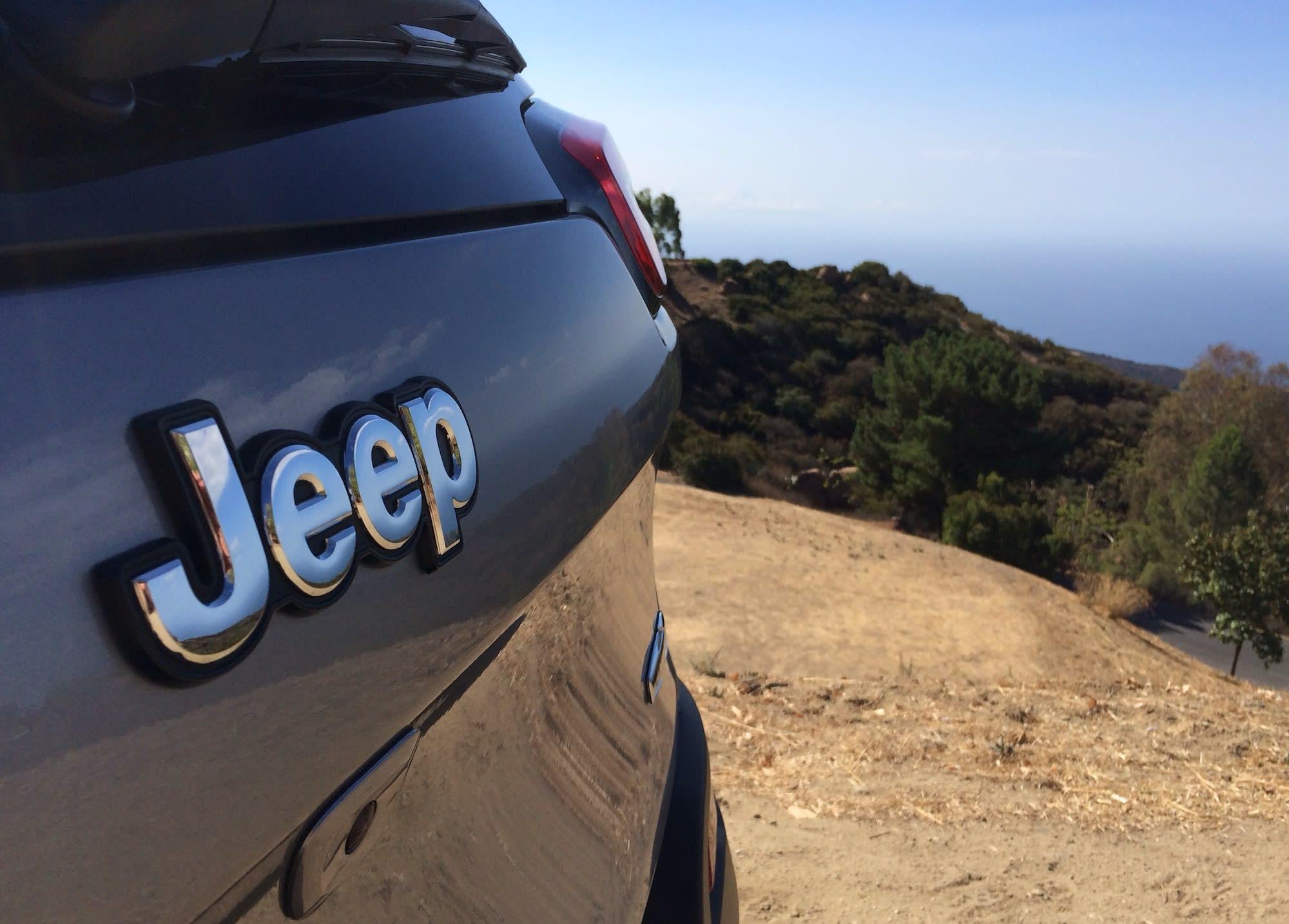Jeep Cherokee Jeep badge view