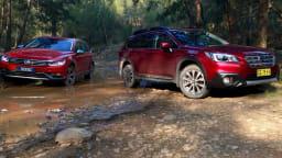 Offroad Wagon Showdown - Subaru Outback v Volkswagen Passat Alltrack Comparison REVIEW