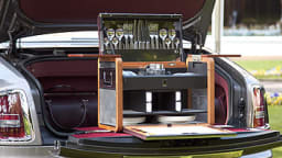 A picnic setting created by Rolls-Royce's Bespoke team to the exact specifications of an owner.
