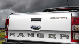 Drive Car of the Year Best Dual Cab Ute 2021 finalist Ford Ranger rear boot exterior close-up
