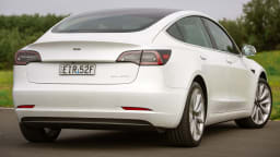 Drive Car of the Year Best Electric Vehicle 2021 finalist Tesla Model 3 rear exterior view