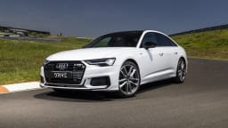 Drive Car of the Year Best Large Luxury Car 2021 finalist Audi A6 front exterior view