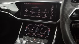 Drive Car of the Year Best Large Luxury Car 2021 finalist Audi A6 infotainment system close-up