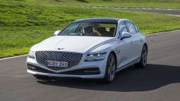 Drive Car of the Year Best Large Luxury Car 2021 finalist Genesis G80 front exterior view