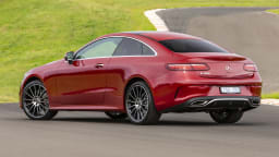 Drive Car of the Year Best Large Luxury Car 2021 finalist Mercedes Benz E-Class exterior rear view