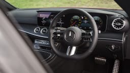 Drive Car of the Year Best Large Luxury Car 2021 finalistMercedes Benz E-Class steering wheel and dashboard