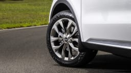 Drive Car of the Year Best Large SUV 2021 finalist Kia Sorento front left wheel close-up